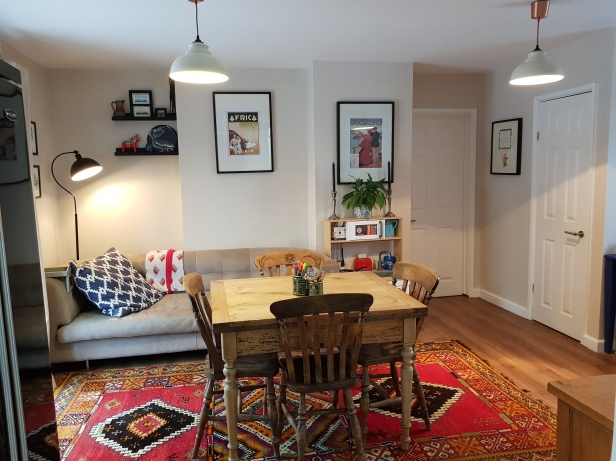 From the kitchen to the dining area